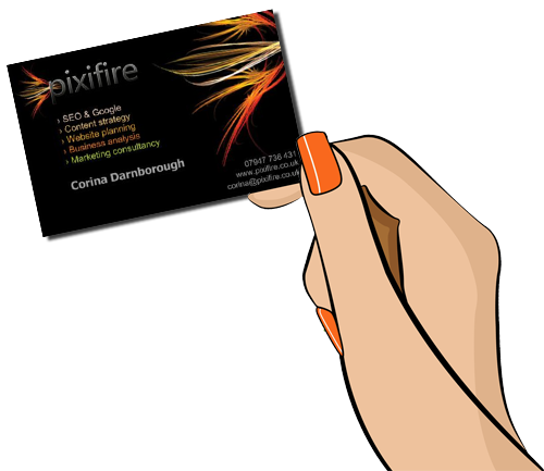 Pixifire business card